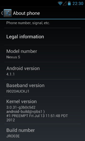 How I upgraded my AT&T Nexus S (I9020A) to Jelly Bean (Android 4.1.1)